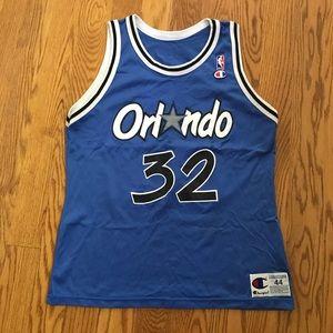 Vintage Champion Orlando Magic Shaq Jersey Size 44